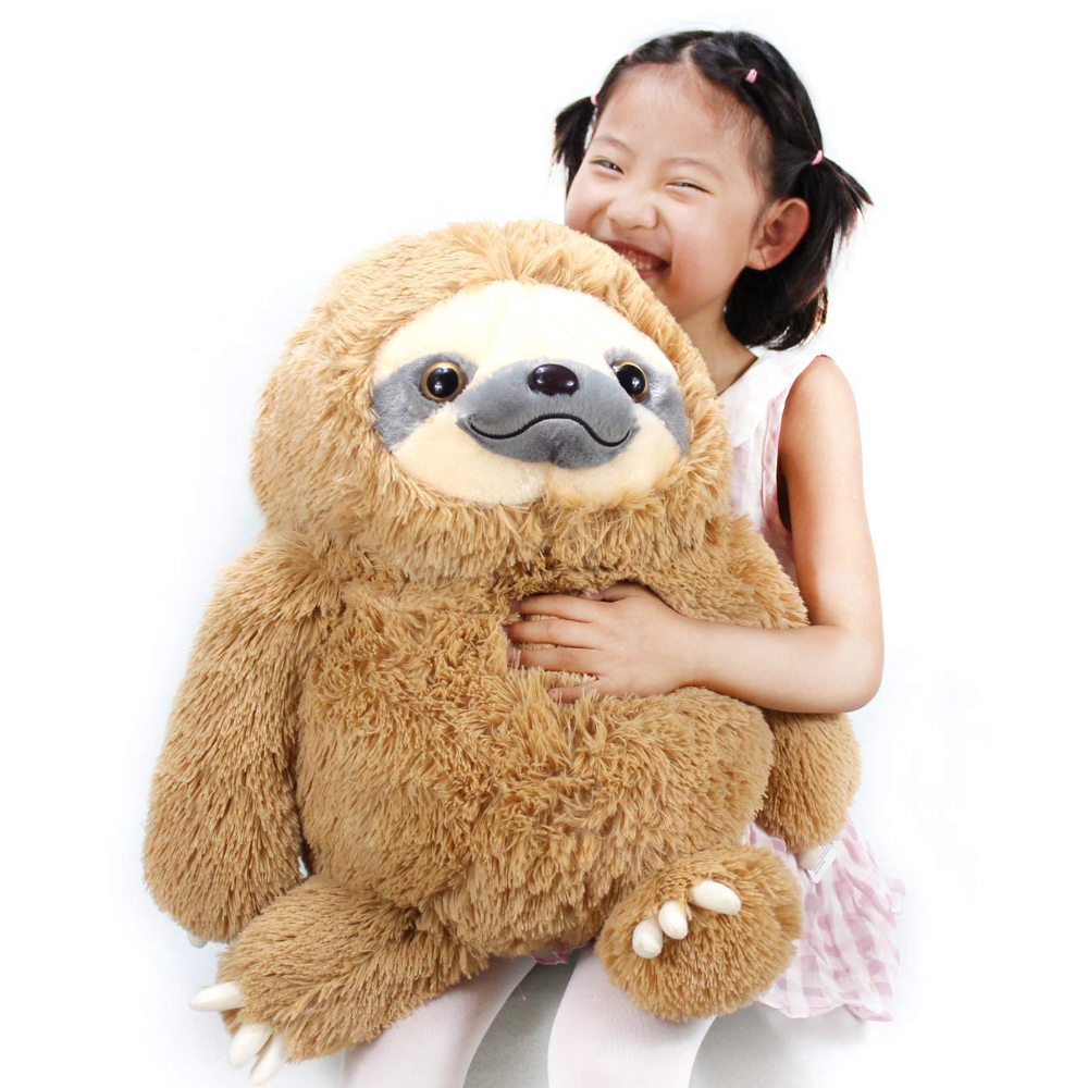Winsterch Fluffy Sloth Stuffed Animal Toy Gift