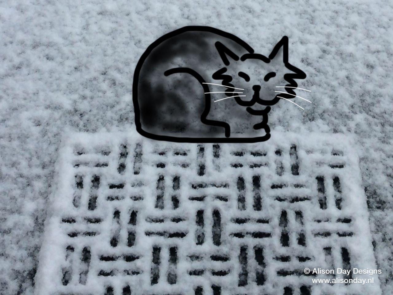 Snow mat by Alison Day Short story: http://alisondaydesigns.blogspot.nl/2016/01/snow-mat.html