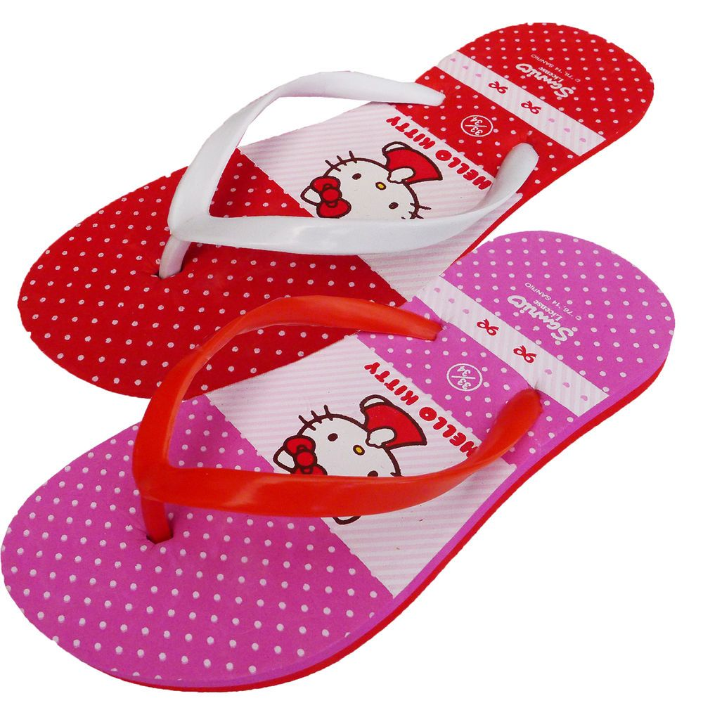 De Fonseca De Estakity Hello Kitty Girls Flip Flops Sandals Shoes RRP £19.99