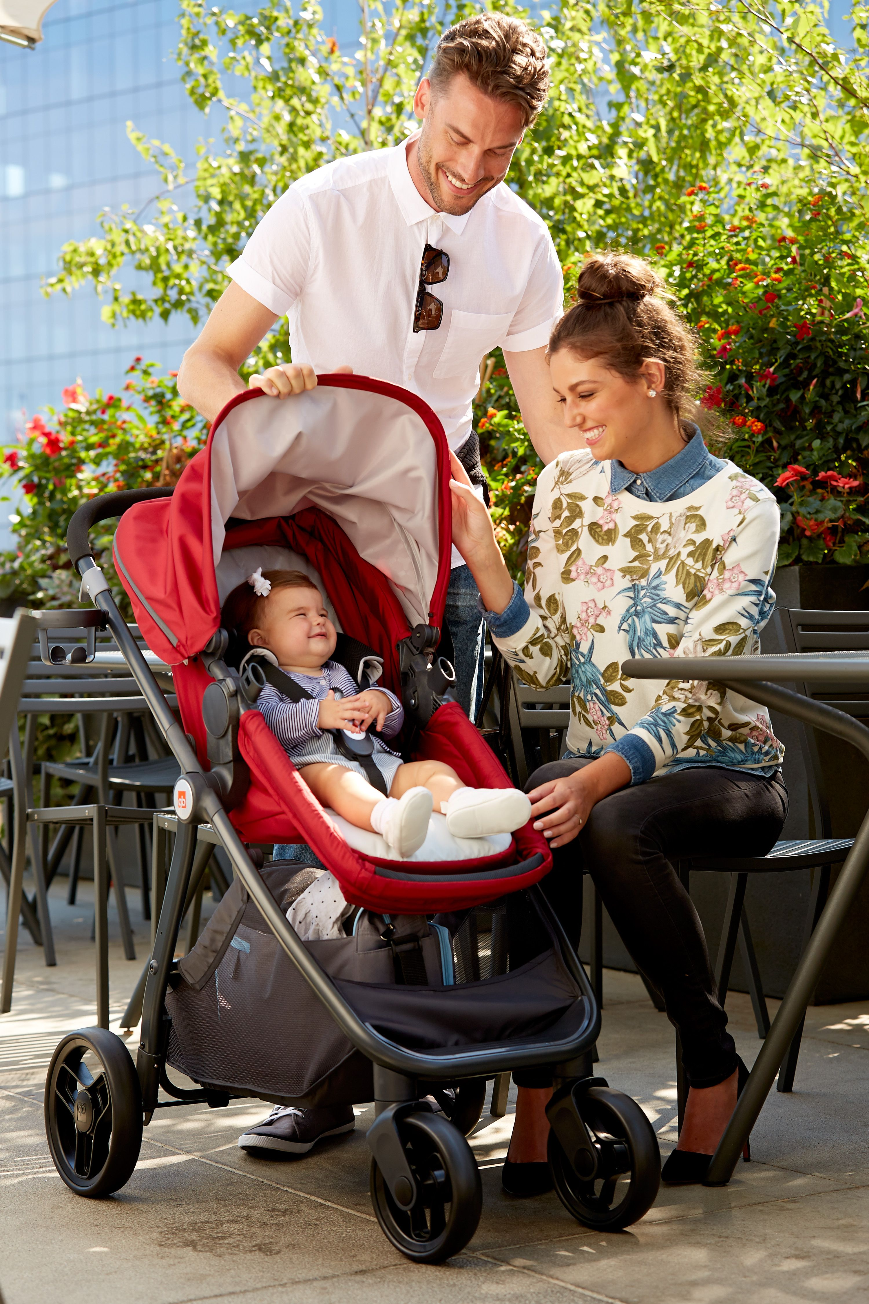 GB Lyfe Pram Travel System. Available now at Babies R Us