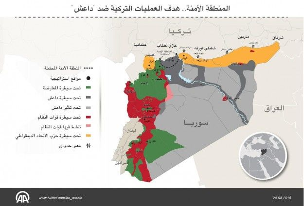 الإحداثيات والهدف والمتوقع من المنطقة الآمنة في العمليات التركية ضد داعش