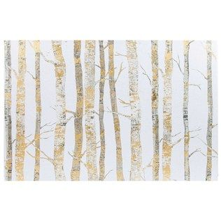 24 X 26 Cream Gold Birch Trees Canvas Art Shop Hobby Lobby Canvas Wall Decor Tree Canvas Gold Birch