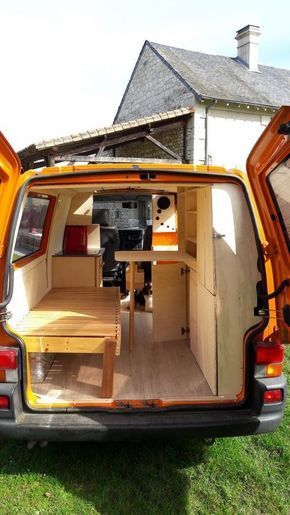 fourgon amenage volkswagen t4 vans rvs small spaces camper vans camper van. Black Bedroom Furniture Sets. Home Design Ideas