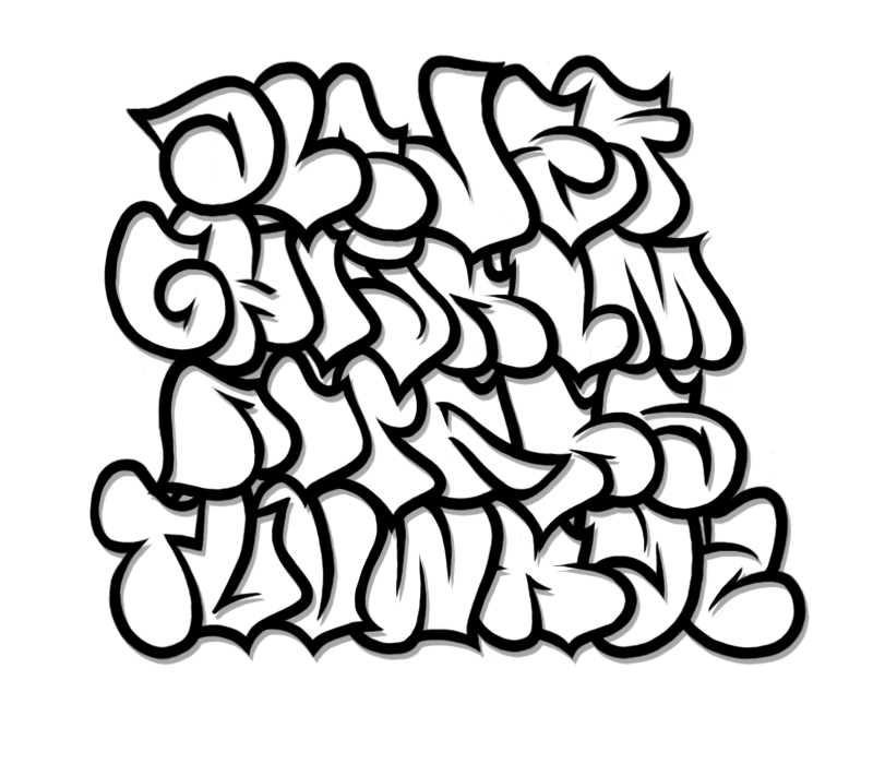 Bubble Graffiti Alphabet Letter A Z By Sg Vandal D4ntvn1.png ...