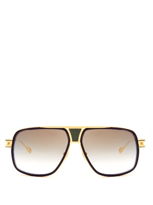 c90a3277674 Dita Eyewear s navy acetate Grandmaster Five sunglasses are an homage to  the golden age of hip hop. They re a striking aviator style with an 18kt ...
