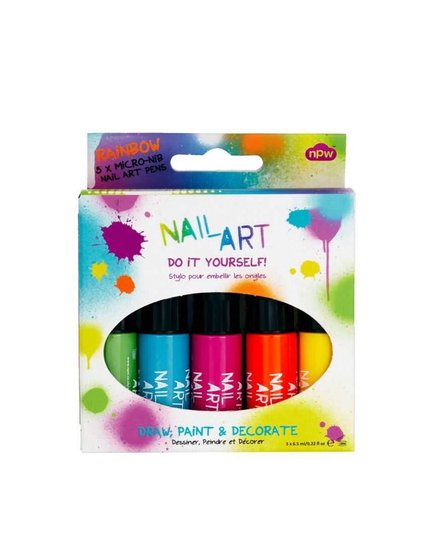 Rainbow Nail Art Diy Arc En Ciel Nail Art Set Rainbow Nail Art