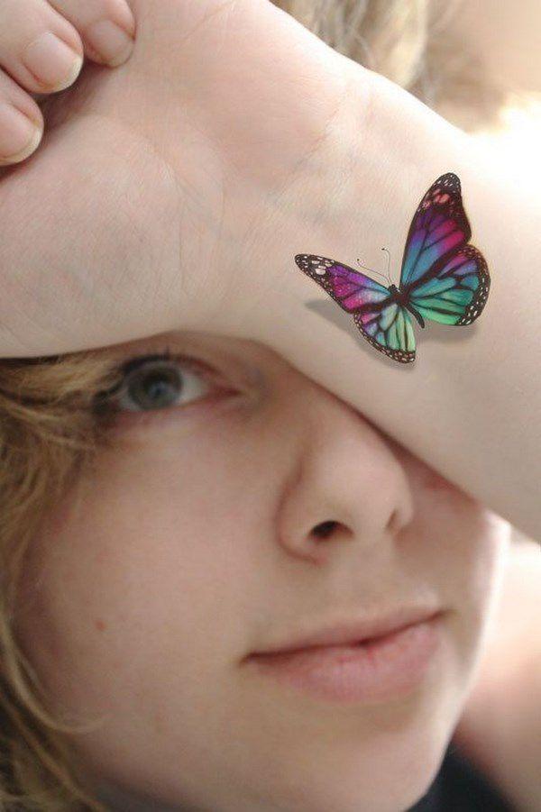 Tatuaje De Mariposa 3d Tatuajes Tatuajes Femeninos Tatuajes