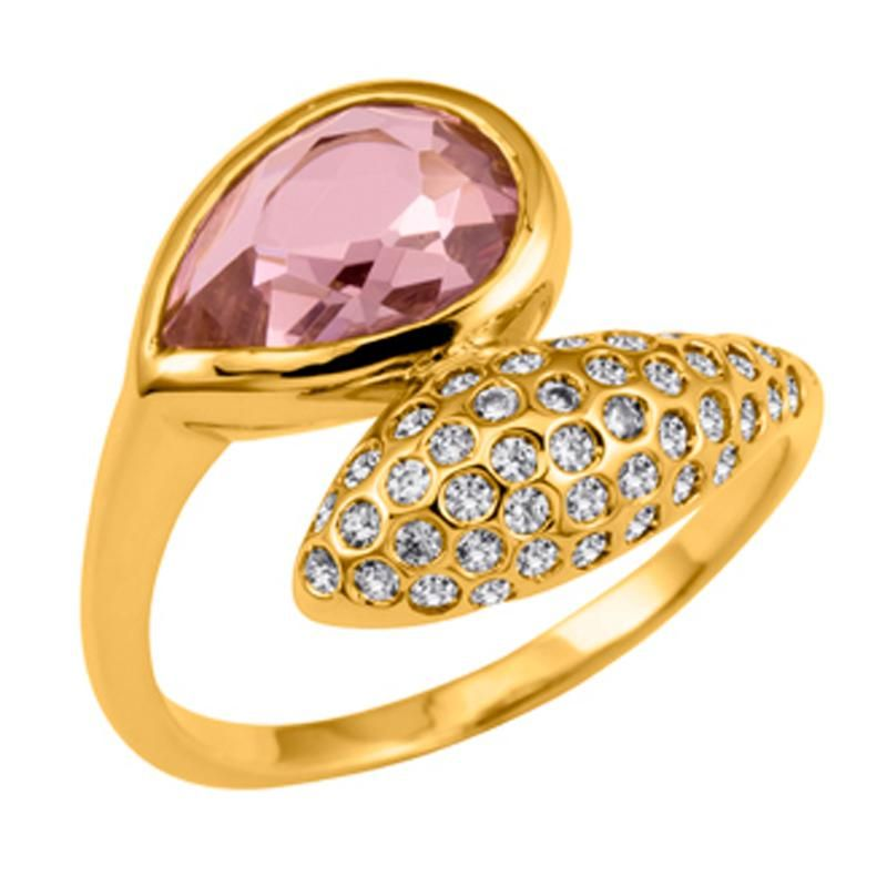 Bagues · Marque De Bijoux · Doigts · Nina Ricci Aw12 Fruits Glaces Gold  Plated Ring With Cz Crystal 00695c409d75