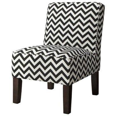 Admirable Modern Black And White Chevron Print Armless Slipper Accent Theyellowbook Wood Chair Design Ideas Theyellowbookinfo