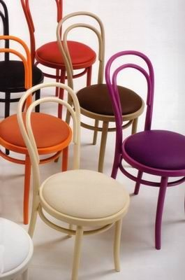 Michael Thonet Designed A14 CU Bentwood Chairs with upholstered