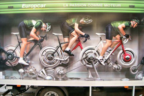 So that's how Europcar travel to races...