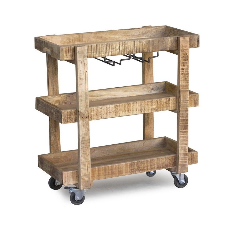 Handmade Timbergirl Reclaimed Wood Wheeled Bar And Drink Cart (India)  (Reclaimed Wood Bar Cart), Orange Mango On Sale. Find Great Prices On  Additional ...