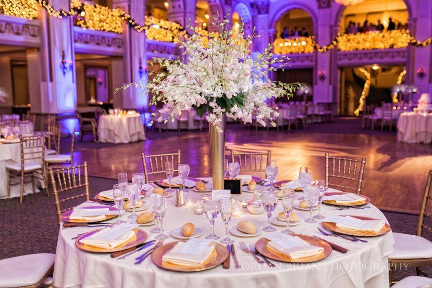 Winter Ballroom At The Ben Philadelphia Wedding Wedding Venues Philadelphia Wedding Gold Wedding Colors