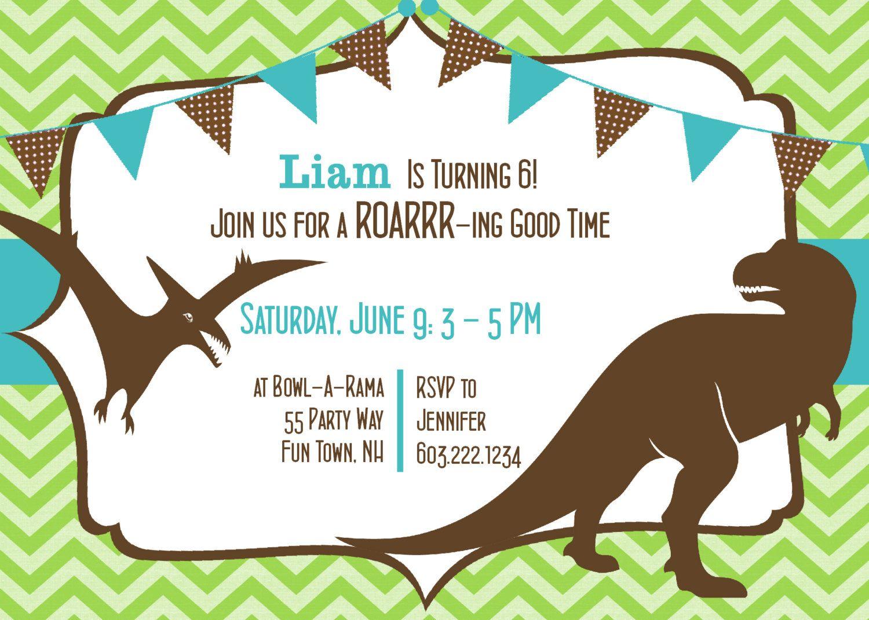 dinosaurs invitations Google Search Dinosaur Party Ideas Pinterest