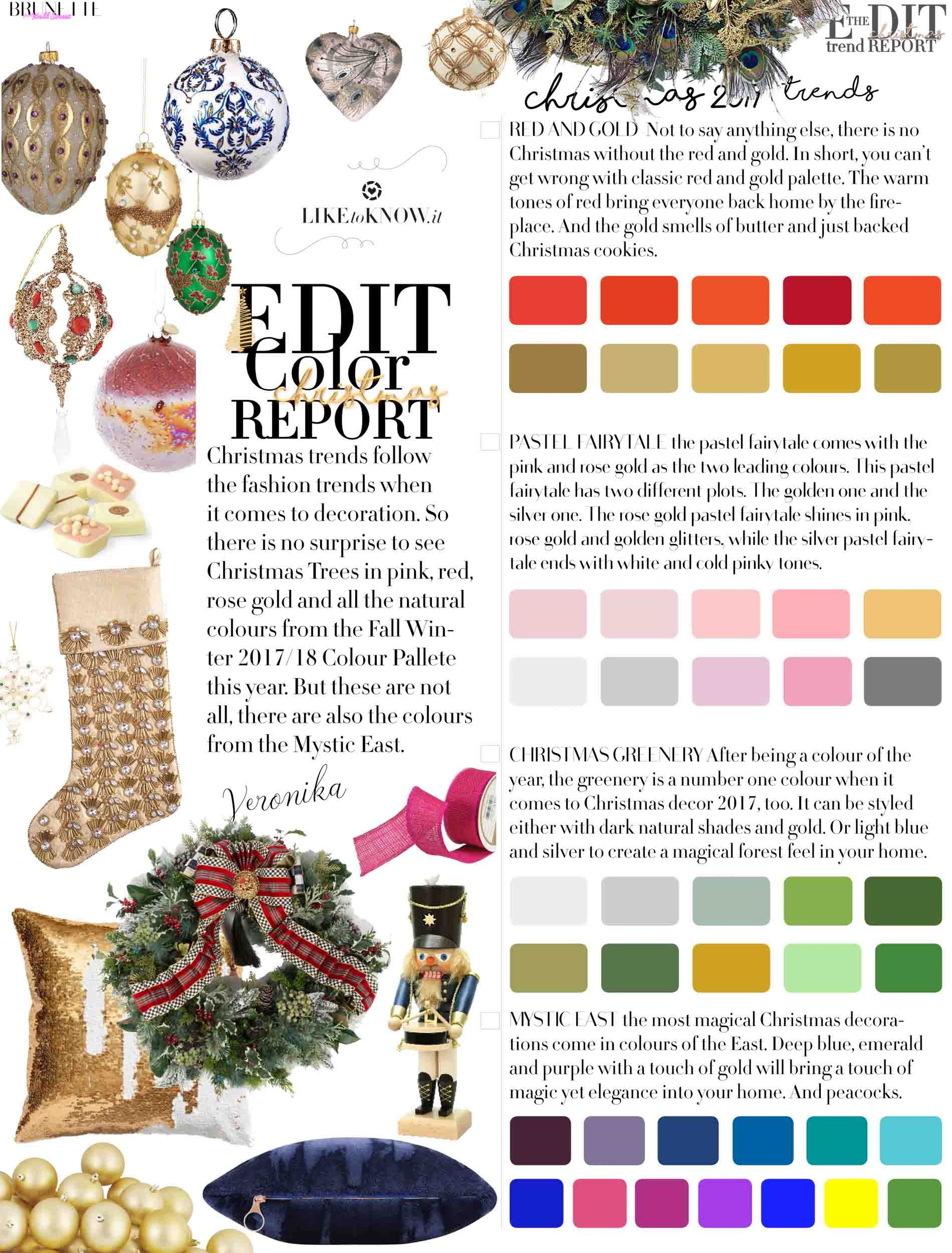 2017 Christmas Colors | Brunette from Wall Street | Happy Holidays ...