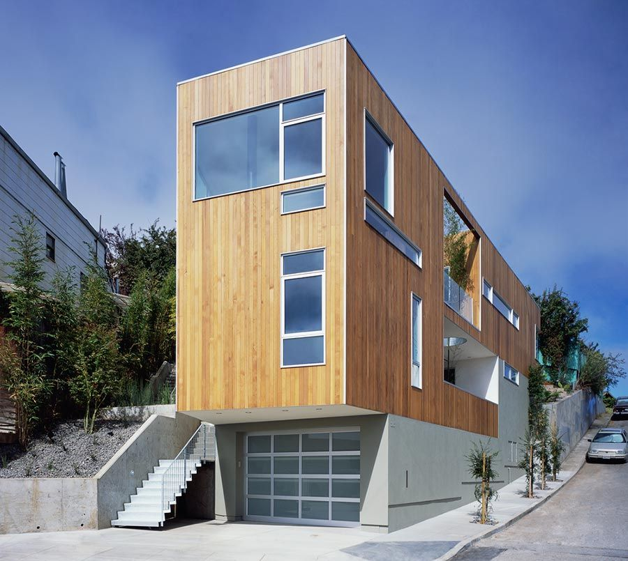 Mullen street house bernal heights san francisco - Amutio y bernal arquitectos ...