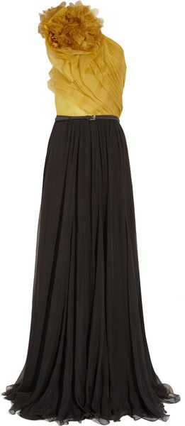 Gucci screen Goddess Silk-organza and Pleated Chiffon Gown