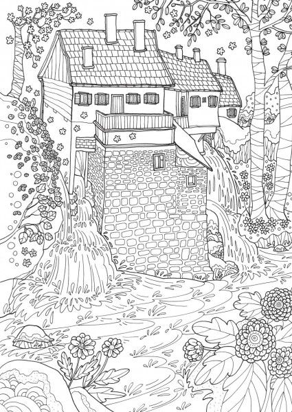 Romantic Croatia Adult Coloring Book Colour Pages