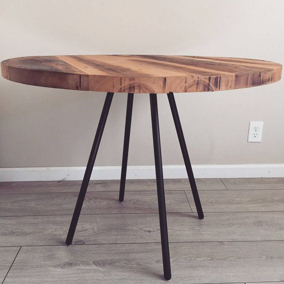 Wood Table Dining Reclaimed, Reclaimed Wood Round Dining Room Table