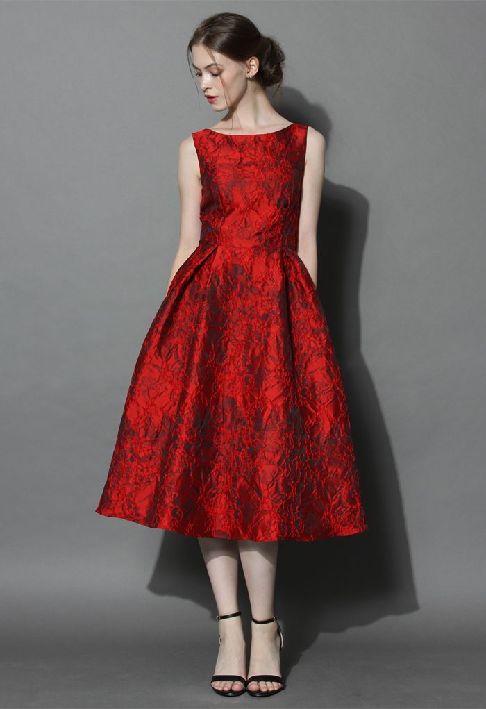 Red Glamour Embossed Prom Dress | Unique fashion, Emboss and Indie