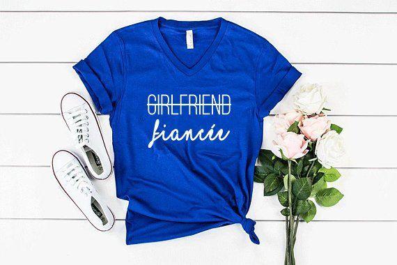 fce4eb9e5 Engagement Gift, Girlfriend Fiance Shirt, Gift for Girlfriend, Fiance Shirt,  Future Mrs, Fiancee Shi
