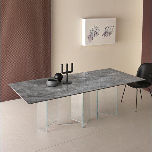 Photo of Esstisch Perspections Farbe des Tischgestells: Transparent, …