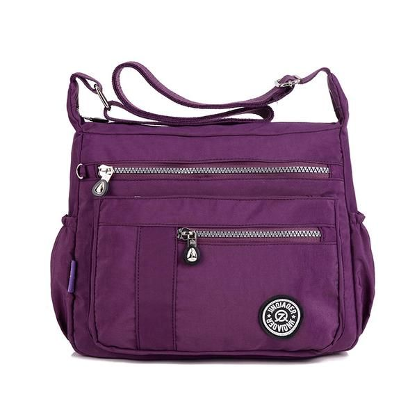 d4f44cff0565 Women Multilayer Zipper Pockets Bags Ladies Casual Waterproof Shoulder Bags  Outdoor Travel Crossbody Bags