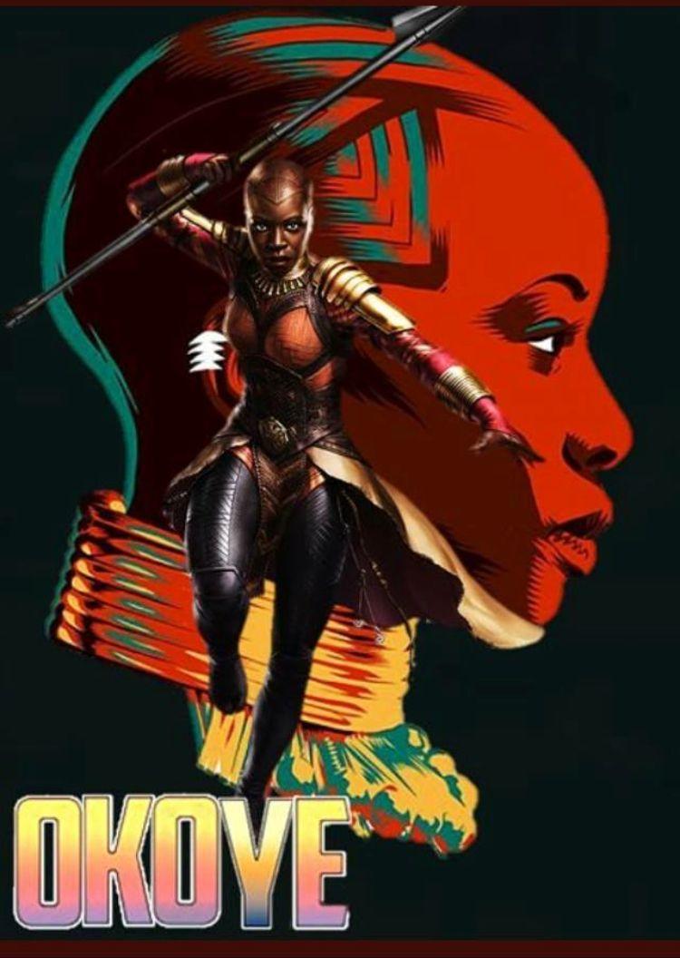 Mcu okoye art night day les super h ros h ros et dessin - The avengers dessin anime ...