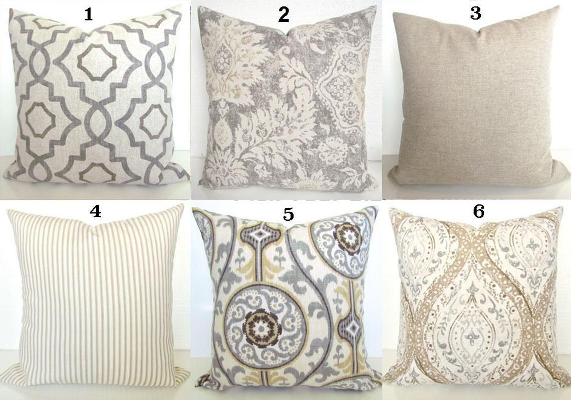 Tan And Gray Pillows Grey Throw Pillow Covers Tan Pillows Grey