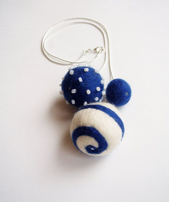 Sailors Bubbled Dreams Beautiful Wool Felted by ShishLOOKdesign
