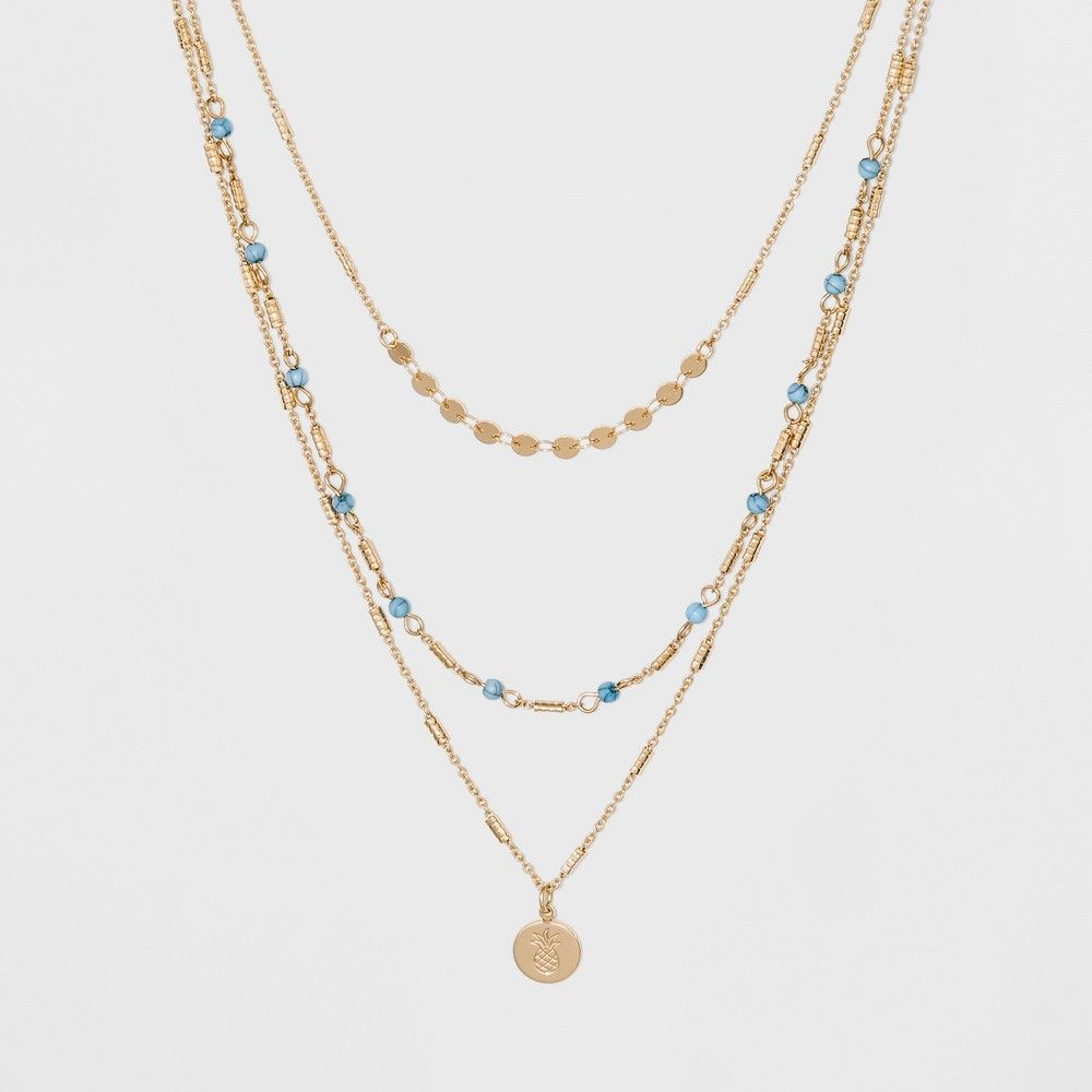The Sugarfix by BaubleBar Mixed Media Layered Necklace makes