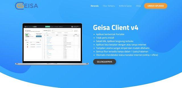 Update Aplikasi Geisa Client V 4 1 Aplikasi Pendidikan Sekolah
