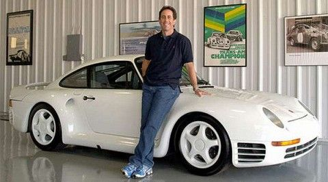 Jerry Seinfeld has the largest Porsche collection next to Porsche's own museum in Stuttgart. His first Porsche was the 911 Carrera and he has since added a 1955 Spyder 550, 917 Le Mans, 1970 908 and the Carrera GT. The cars are in California and Manhattan.