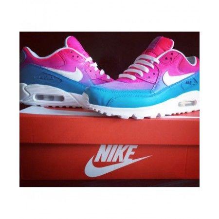 huge discount 65b32 9abba Chaussures De Sport Nike Air Max 90 Randy Rose Bleu Blanc France Magasin