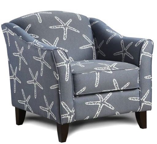 Coastal Upholstered Chairs In Beachy Amp Nautical Fabrics In