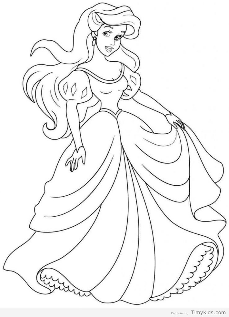 30 Princess Coloring Pages For Girls Disney Princess Coloring