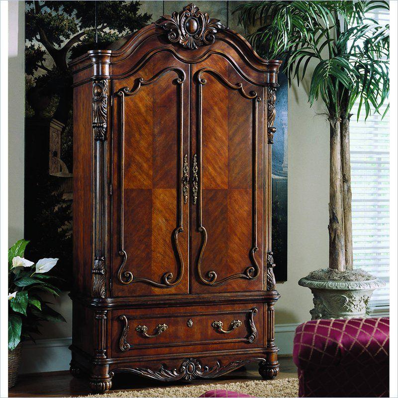 Pulaski edwardian antique wood tv armoire furniture to