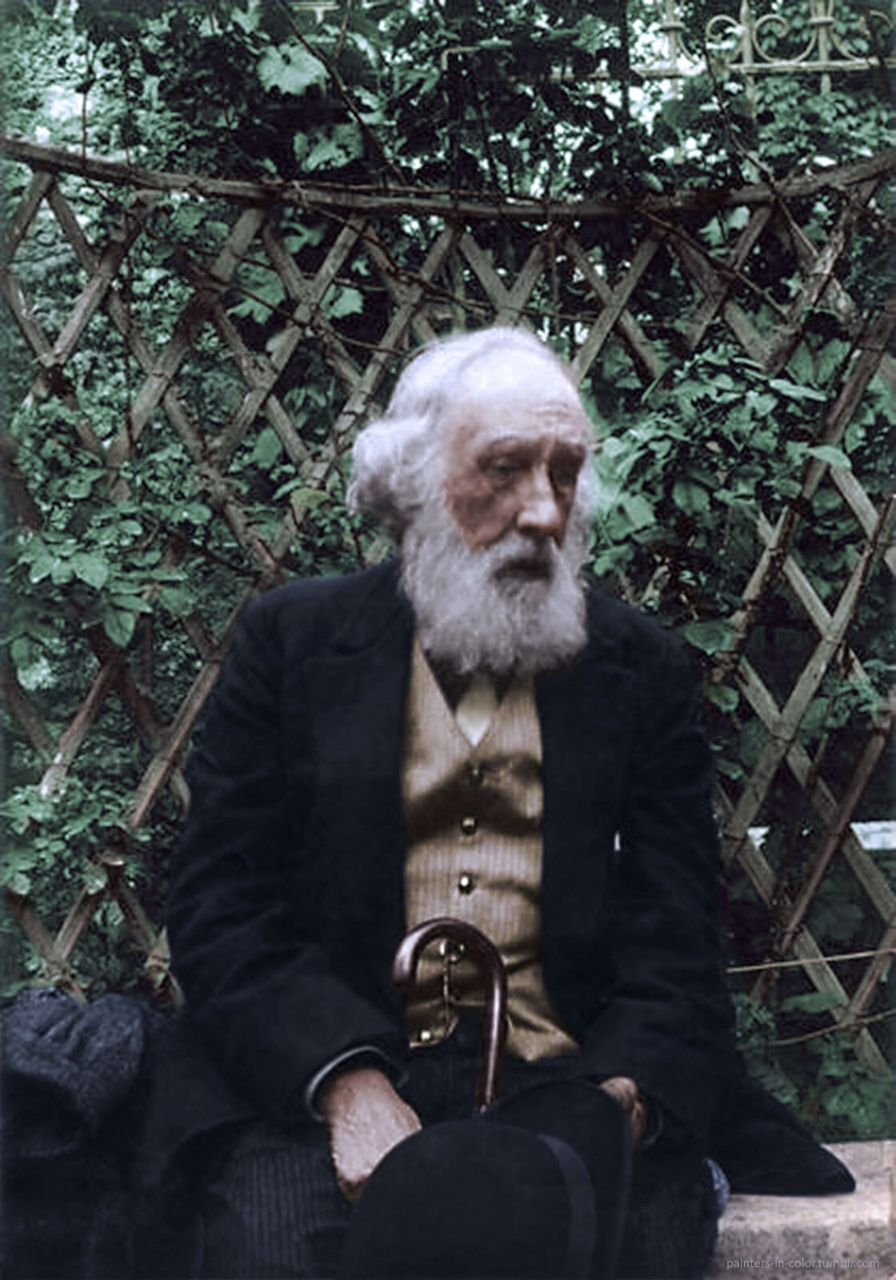 Colorized photo of French painter and sculptor Edgar Degas