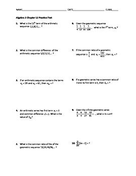 Sequences and Series Test BUNDLE | Tests | Sequence, series