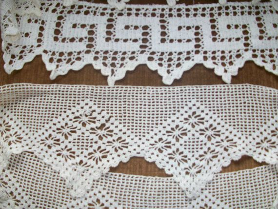 Items similar to Vintage pillow edging/Vintage crocheted edging/vintage pillowcase/pillowcase edging/pillowcases/vintage linens/crocheted lace pillow trim on Etsy