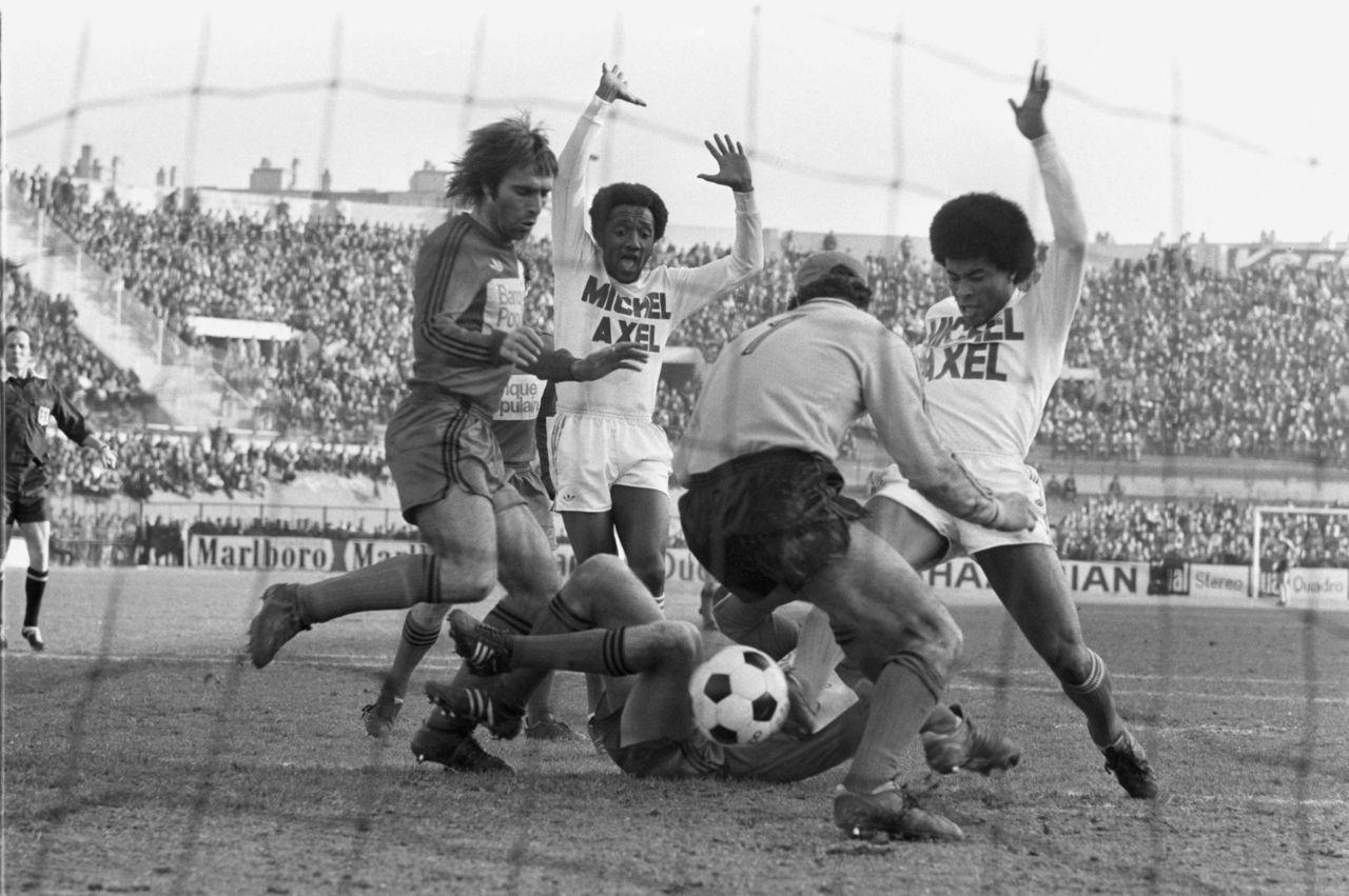 Jairzinho et Paulo Cesar Olympique Marseille 1975