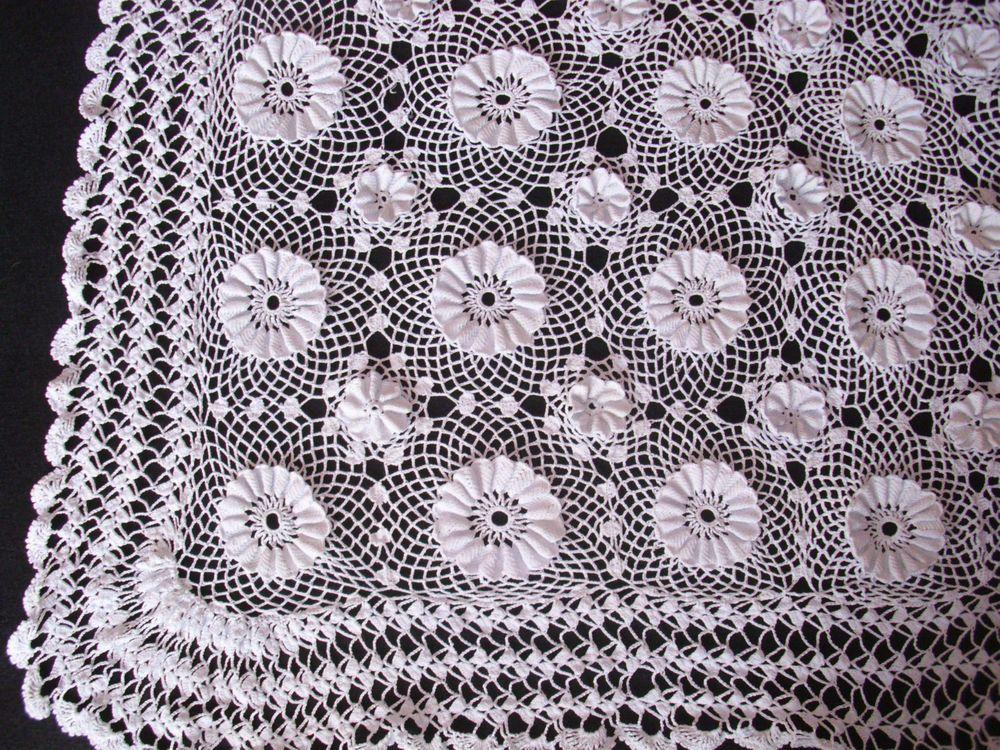 Copritavolo Uncinetto ~ Copritavolo uncinetto vintage fatto a mano tablecloth crochet