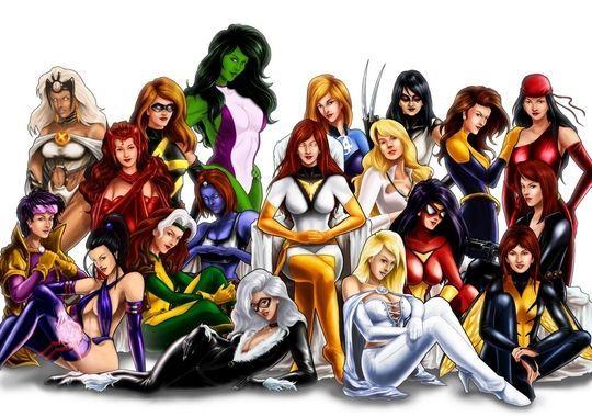 Marvel Divas Many Marvel Women I Love This Picture D Female Superheroes And Villains Comics Girls Marvel Women