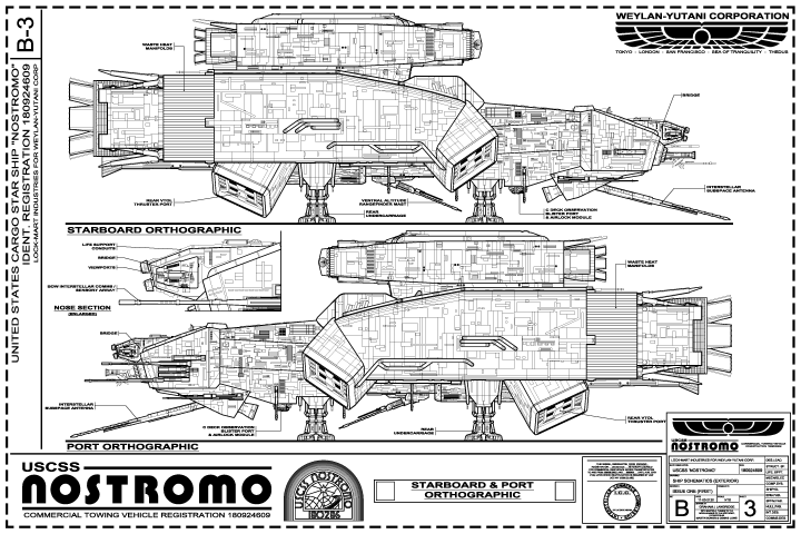 Nostromo elevations