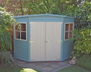 wickes double door timber corner shed 7 x 7 ft - Corner Garden Sheds 7x7