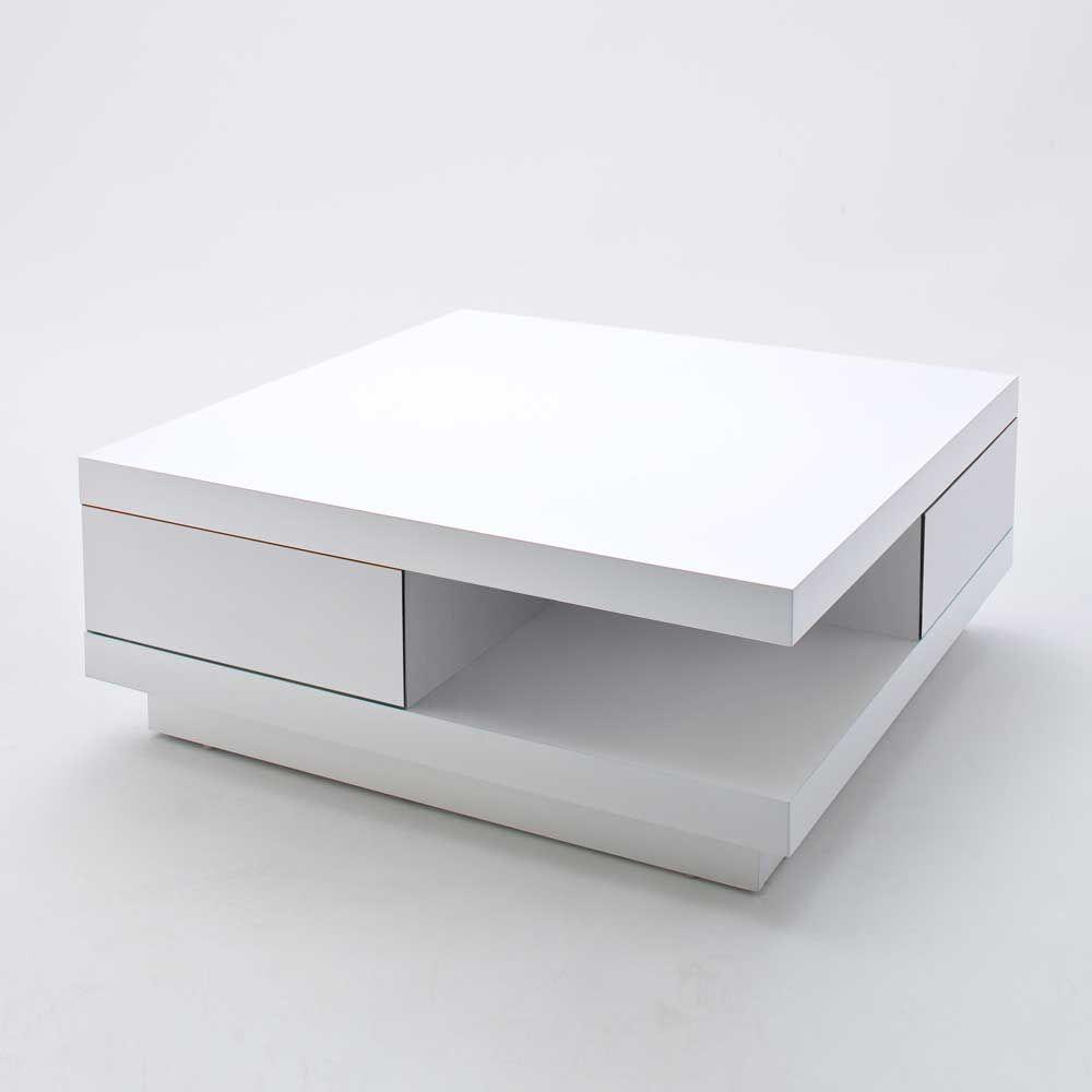 Design Couchtisch In Hochglanz Weiß 2 Schubladen Jetzt Bestellen Unter: ...