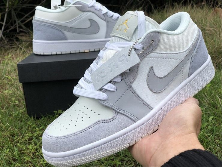Air Jordan 1 Low Paris White Sky Grey In 2020 Jordan 1 Jordan 1 Low Air Jordans
