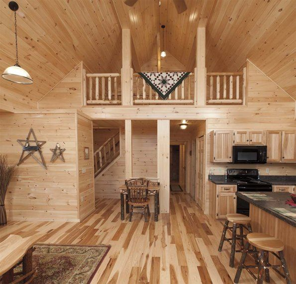 Deluxe lofted barn cabin interior finished deluxe lofted barns joy studio design gallery for Deluxe interior design studio kit