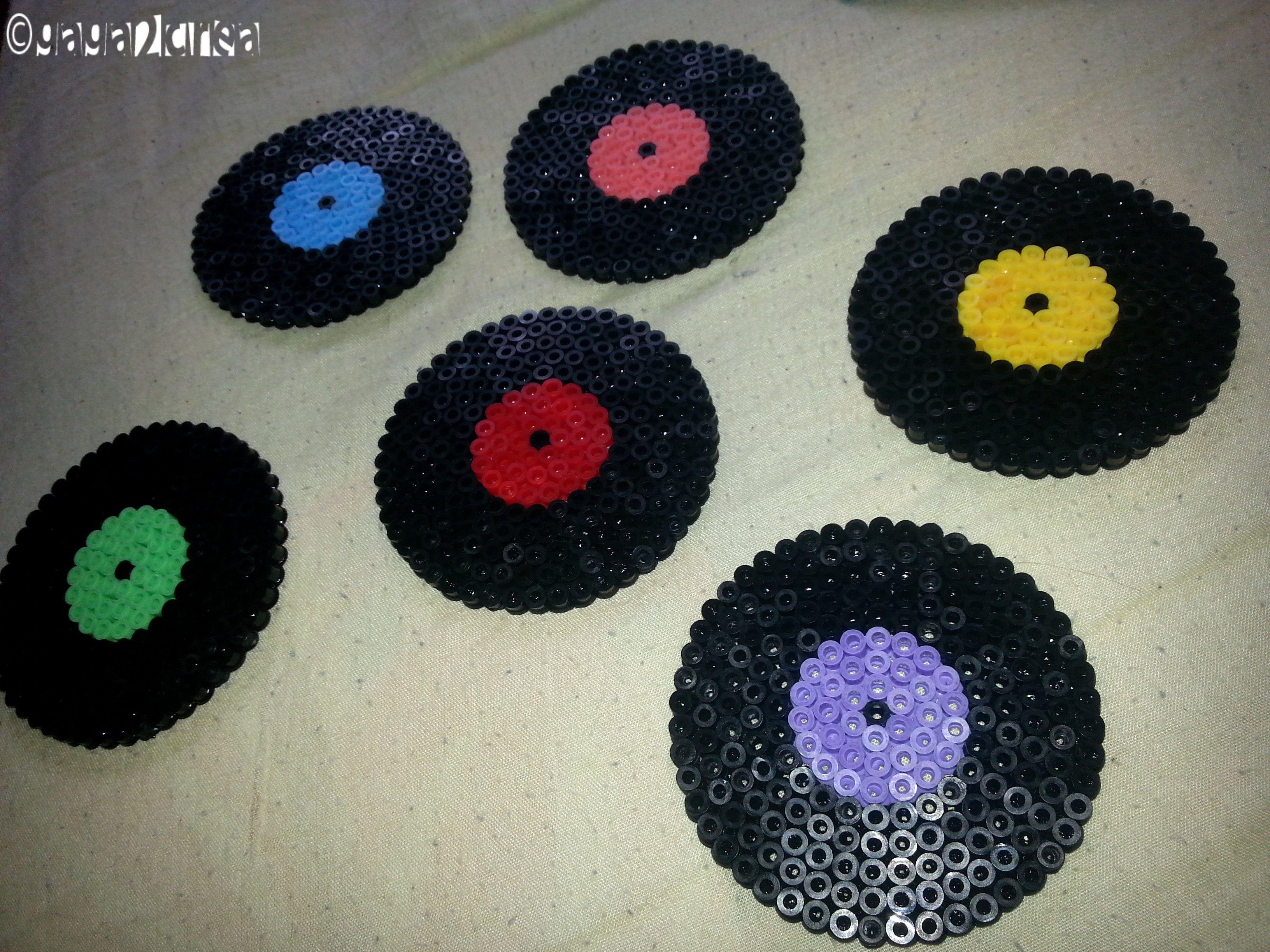 Dessous de verre vinyle hama perles pinterest dessous de verre vinyles - Dessous de verre vinyle ...