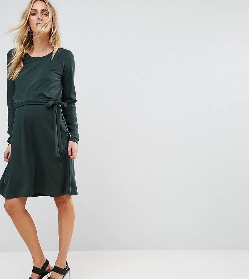 Mamalicious - Zweilagiges Still-Kleid aus Jersey - Grün Jetzt